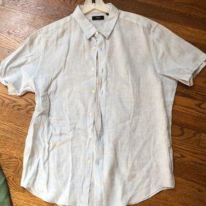 Linen shirt sleeve linen top